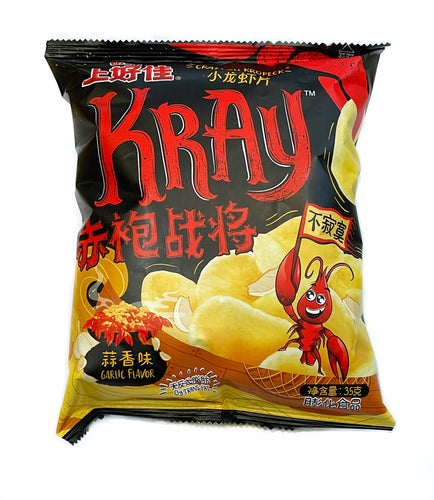 Oishi Crayfish Crackers - Garlic 40g <br> 上好佳 小龍蝦片 - 蒜香味