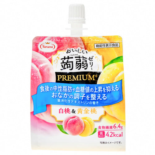 Tarami White and Golden Peach Flavoured Premium Konjac Jelly Drink 150g *** <br> Tarami 美味蒟蒻果凍飲品 白桃黃金桃味