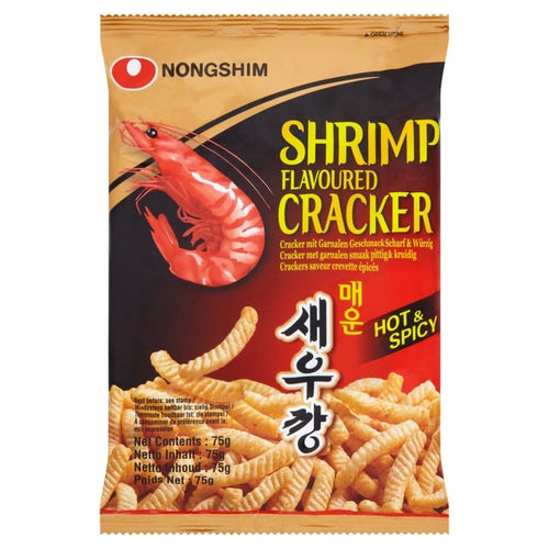 Nongshim Shrimp Cracker-Hot 75g <br> 農心 鮮蝦條-辣味
