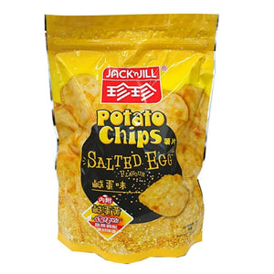 Jack n Jill Potato Chips Salted Egg Flavour 50g <br> 珍珍薯片 鹹蛋味