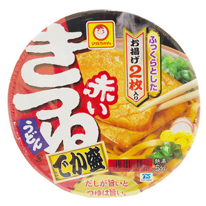 Toyo Suisan Maruchan Akai Kitsune Udon with Fried Tofu Large 136g <br> 車洋水產油豆腐烏冬杯麵 大