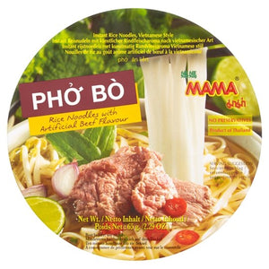 Mama Pho Bo Instant Rice Noodles with Artificial Beef Flavour Cup Noodle 65g <br> 媽媽越南牛肉河粉杯麵