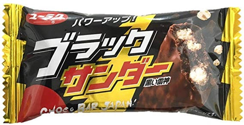 Yuraku Black Thunder Chocolate Bar 21g *** <br> 有樂製菓黑雷神巧克力