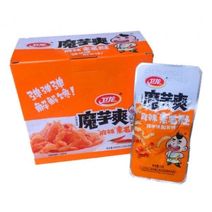 WeiLong Konjac Strips - Hot Spicy 360g (20 Packs) <br> 衛龍 魔芋爽 麻辣素毛肚