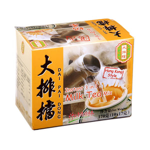 DPD 3 in 1 instant Milk Tea 170g  (17g x 10 Sachets) <br> 大排檔 3合1奶茶