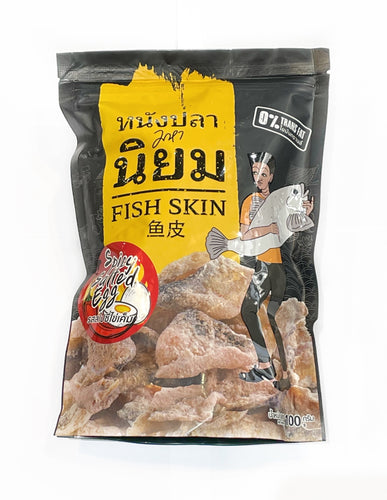 Maha Niyom Spicy Salted Egg Fish Skins 100g
