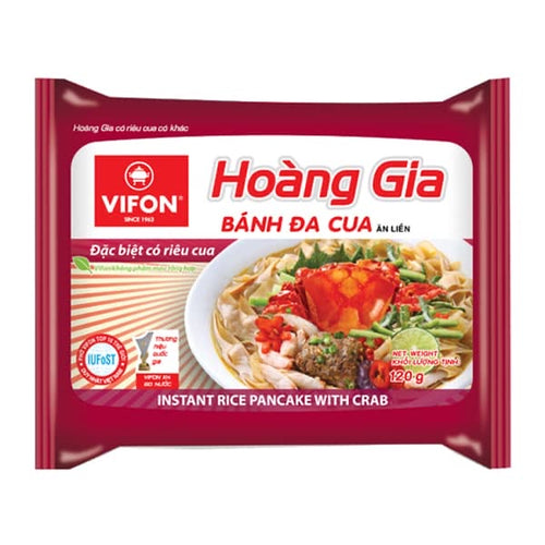 Vifon Hoàng Gia Instant Brown Rice Noodles with Crab 120g <br>