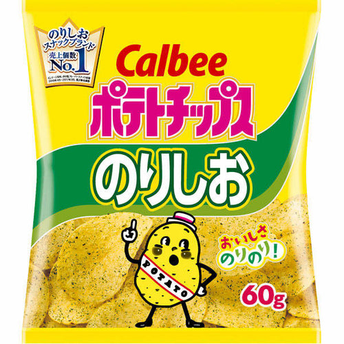 Calbee P/Chips - Nori Salt Flavoured 60g *** <br> 卡樂B薯片(日版)-紫菜鹽味