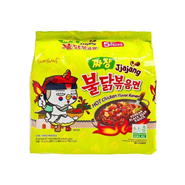 Samyang Hot Chicken Ramen Jiajang 140g (5 Pack) <br> 三養 辣雞拉麵炸醬麵 (5連包)