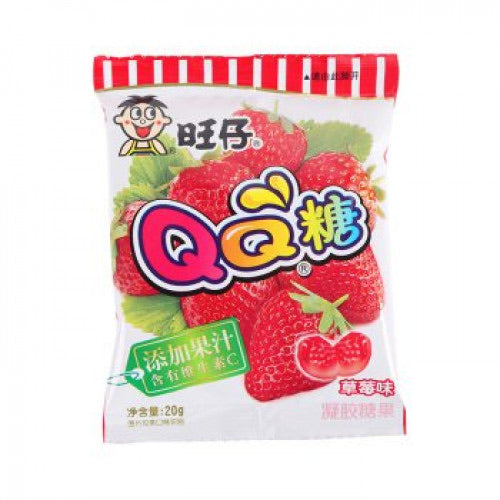 WW QQ Gummy Candy - Strawberry 20g ***<br> 旺旺 QQ糖-草莓