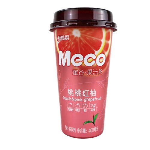 Xiang Piao Piao Meco Fruit Tea (Peach & Pink Grapefruit) 400ml *** <br> 香飄飄蜜谷桃桃紅柚茶