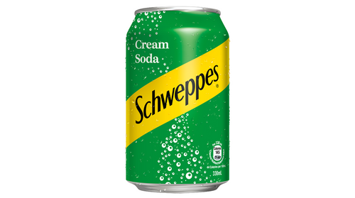 Schweppes Cream Soda 330ml *** <br> 玉泉忌廉汽水