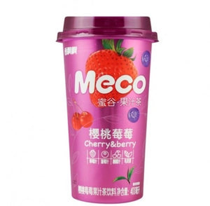 Xiang Piao Piao Meco Fruit Tea (Cherry & Berry) 400ml *** <br> 香飄飄蜜谷果汁茶櫻桃莓莓