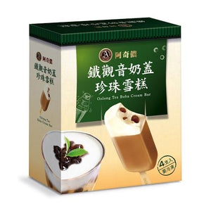 A-Chino Oolong Tea Boba Ice Cream Bar (4pcs) 360g *** <br> 阿奇儂 鐵觀音奶蓋珍珠奶茶冰棒