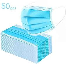 Surgical Face Masks Disposable-3ply 50 Pieces (Box)