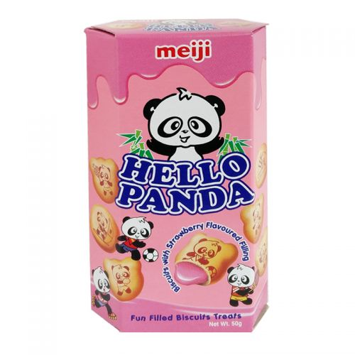 Meiji Hello Panda-Strawberry 50g <br> 明治熊貓草莓味