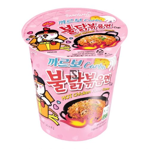 Samyang Carbo Hot Chicken Ramen Cup 80g <br> 三養卡邦尼辣雞拉麵杯麵