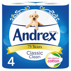 Andrex Classic Clean White (4 Pack) ***