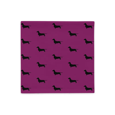 Plum Dachshund Pillow Case