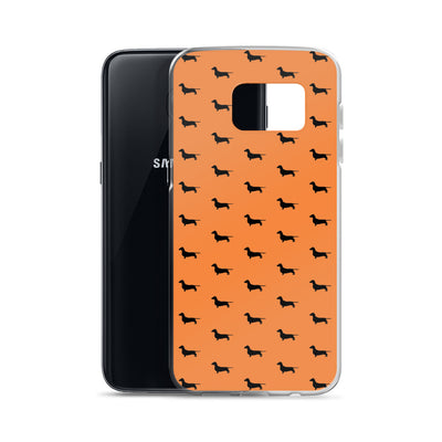 Orange Dachshund Samsung Case