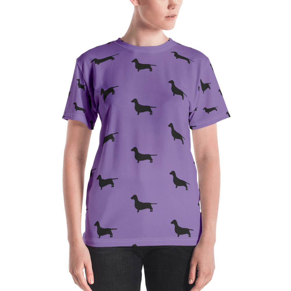 Purple Dachshund Women's T-shirt