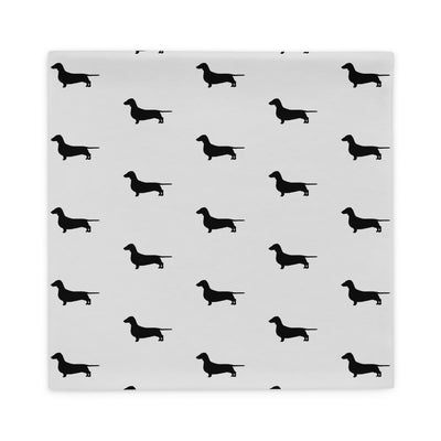 Grey Dachshund Pillow Case