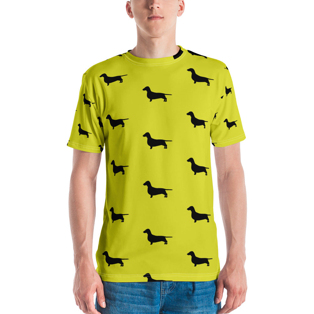 Yellow Dachshund Men's T-shirt