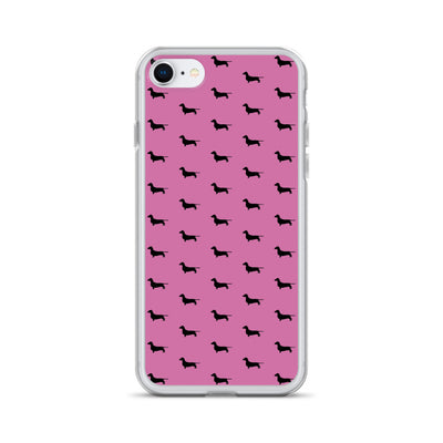 Pink Dachshund iPhone Case