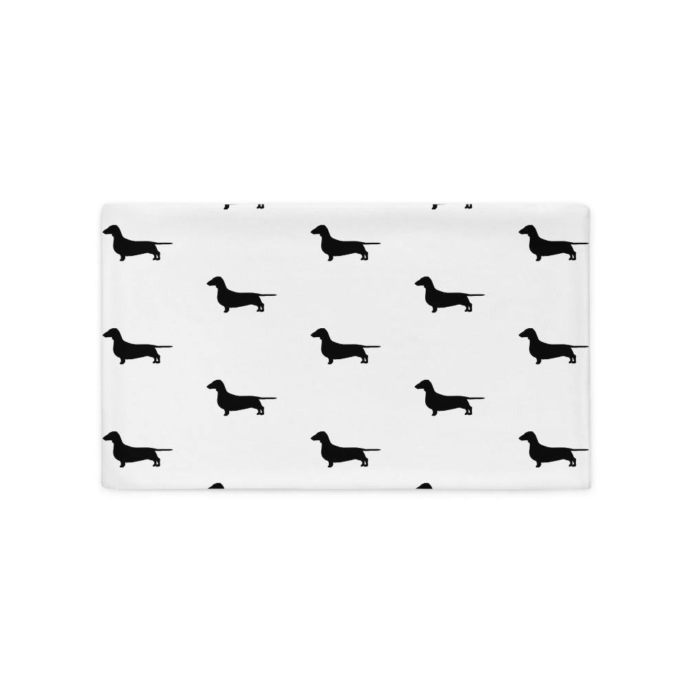 White Dachshund Pillow Case