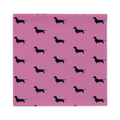 Pink Dachshund Pillow Case