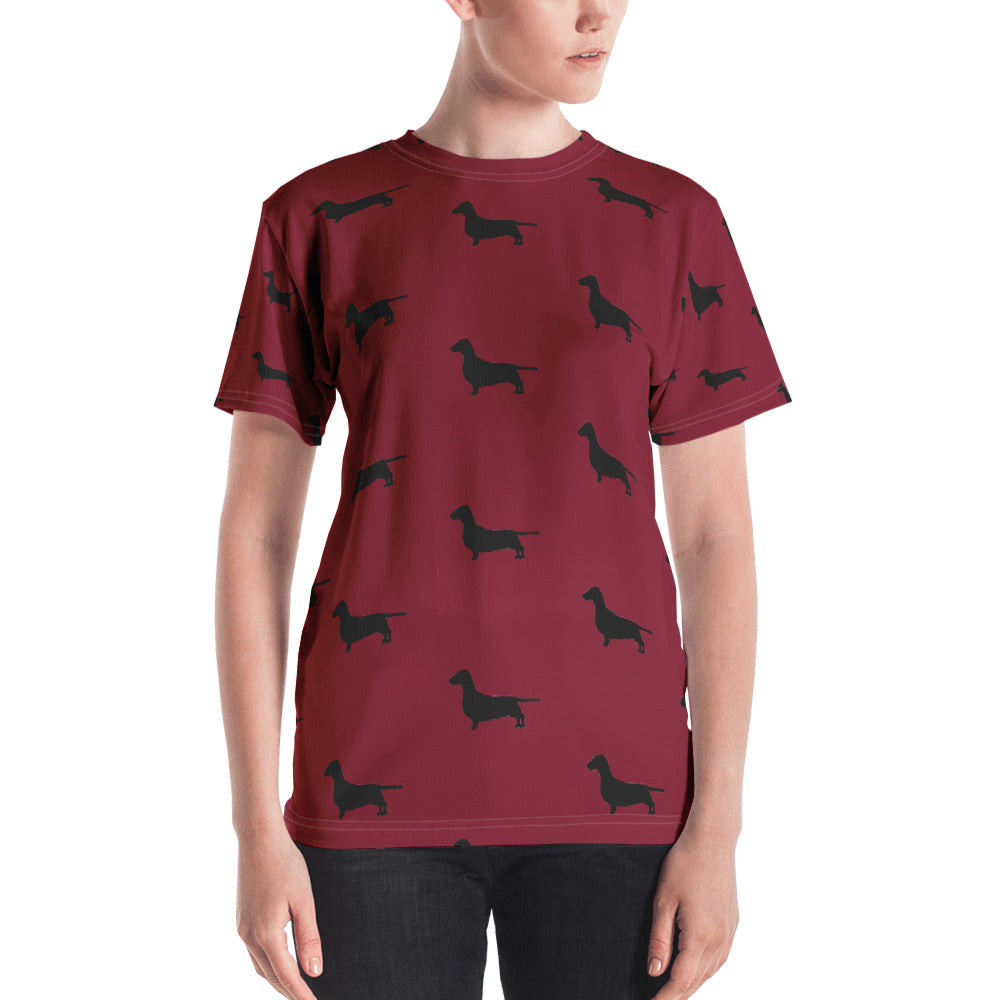 Red Dachshund Women's T-shirt