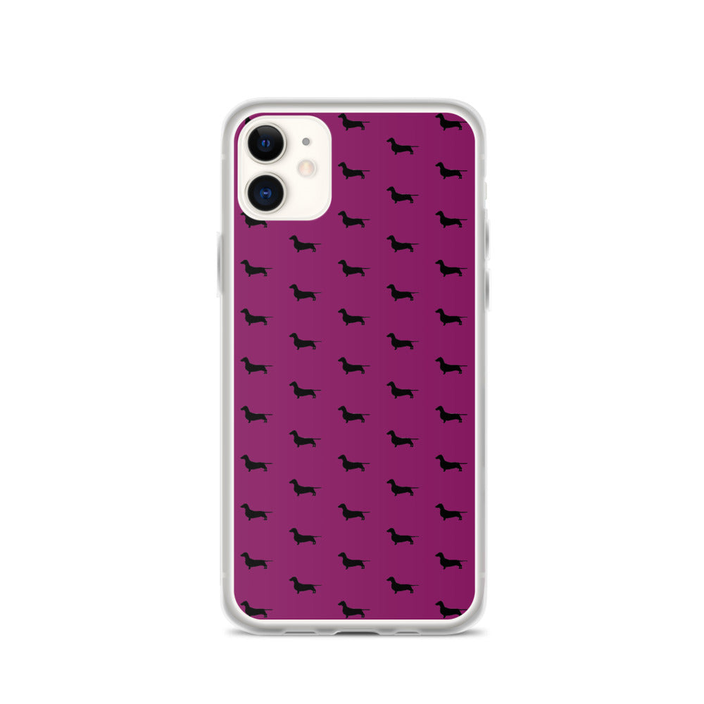 Plum Dachshund iPhone Case