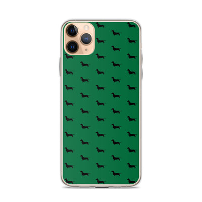 Green Dachshund iPhone Case