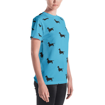 Light Blue Dachshund Women's T-shirt