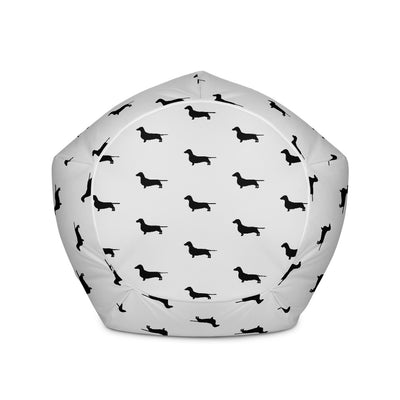 Grey Dachshund Bean Bag Cover
