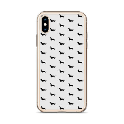 Grey Dachshund iPhone Case
