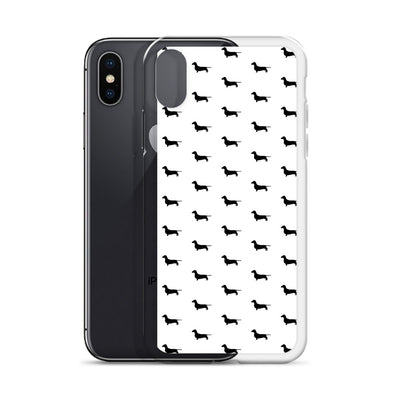 White Dachshund iPhone Case