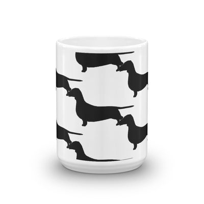 Raining Dachshund Coffee Mug