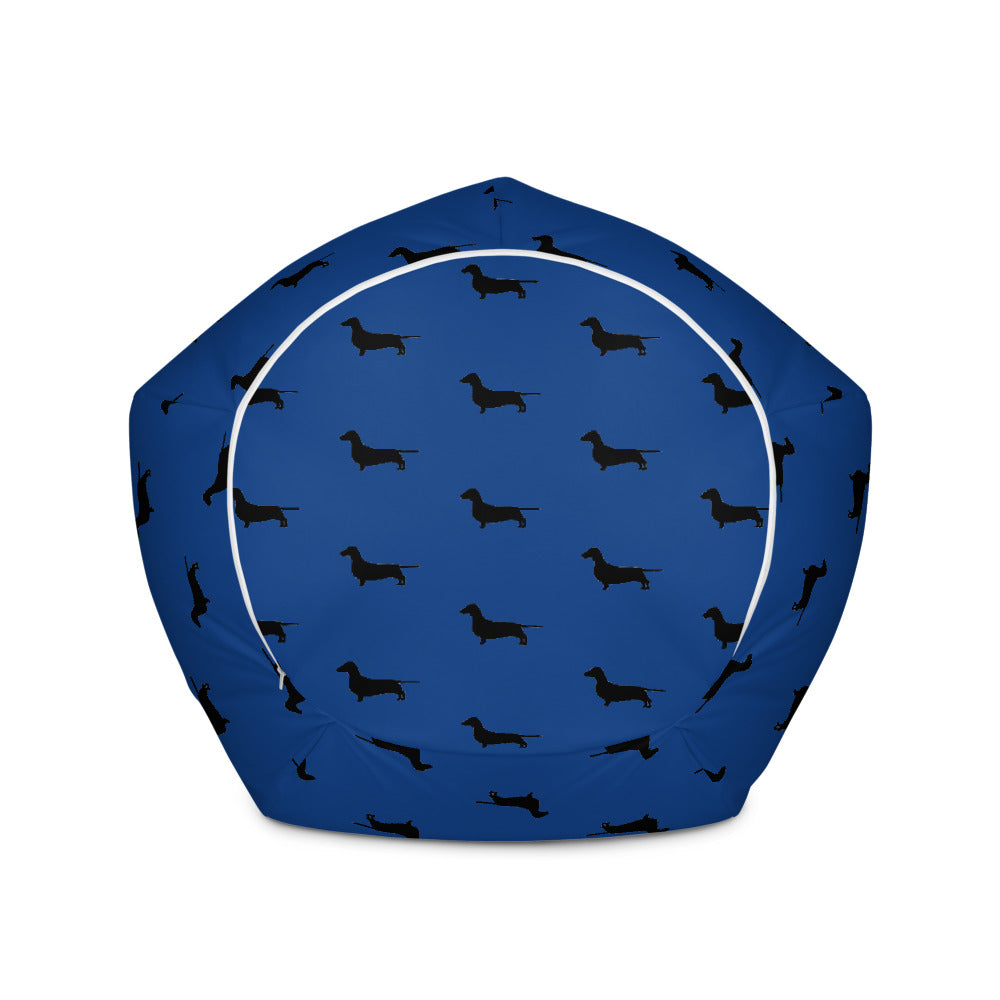 Blue Dachshund Bean Bag Cover