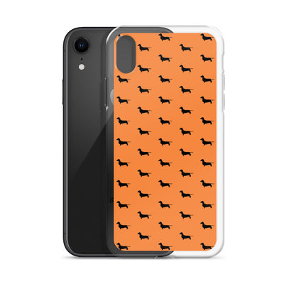 Orange Dachshund iPhone Case