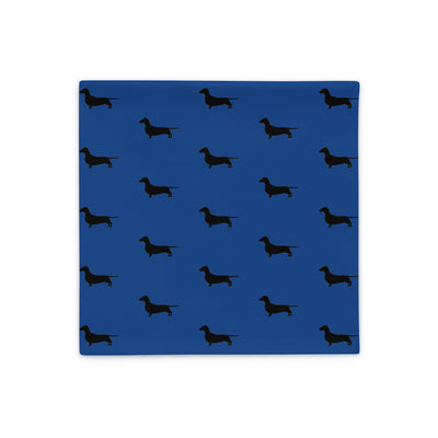 Blue Dachshund Pillow Case