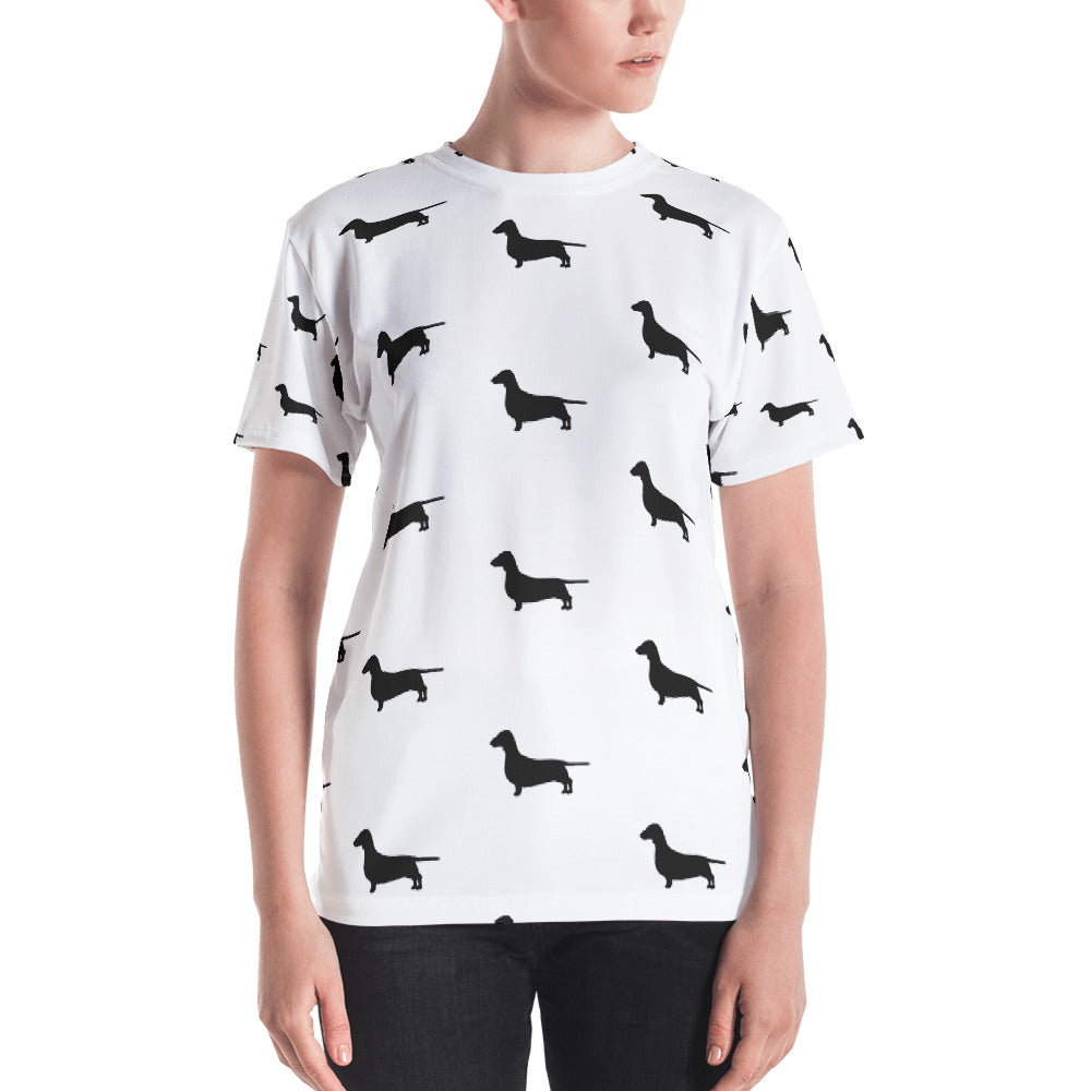 White Dachshund Women's T-shirt