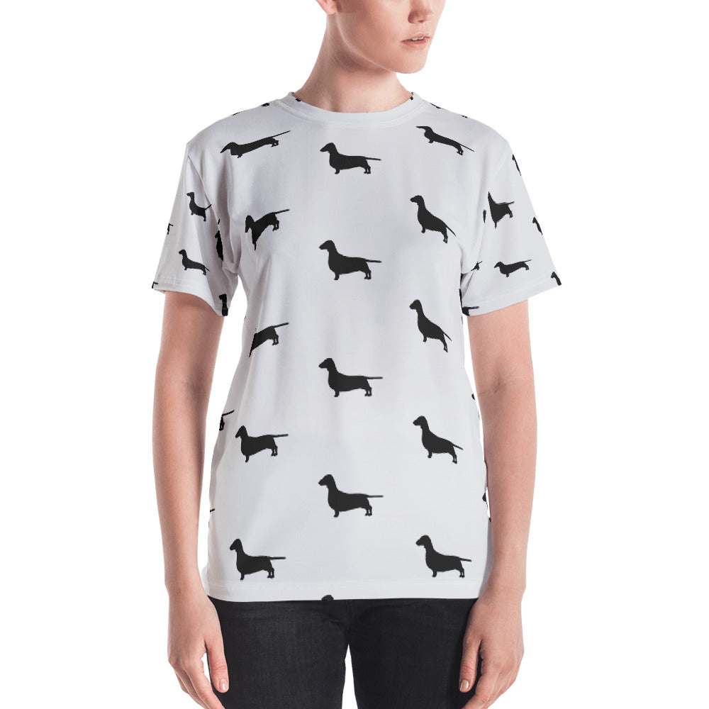 Grey Dachshund Women's T-shirt