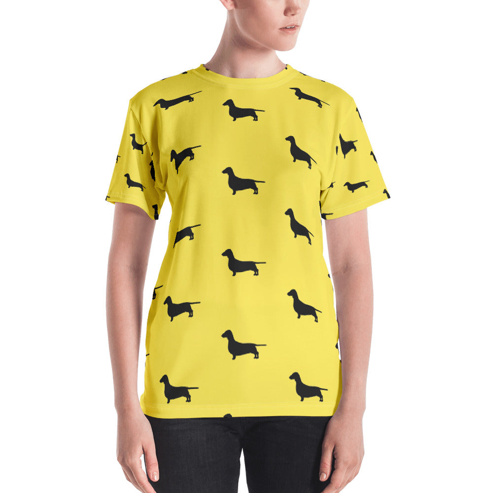 Yellow Dachshund Women's T-shirt