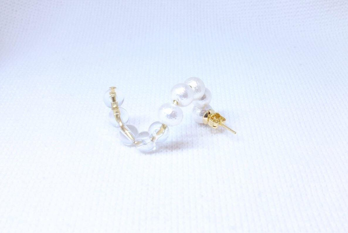 <The Pearl> SOLO S curve earring - MMW Concept