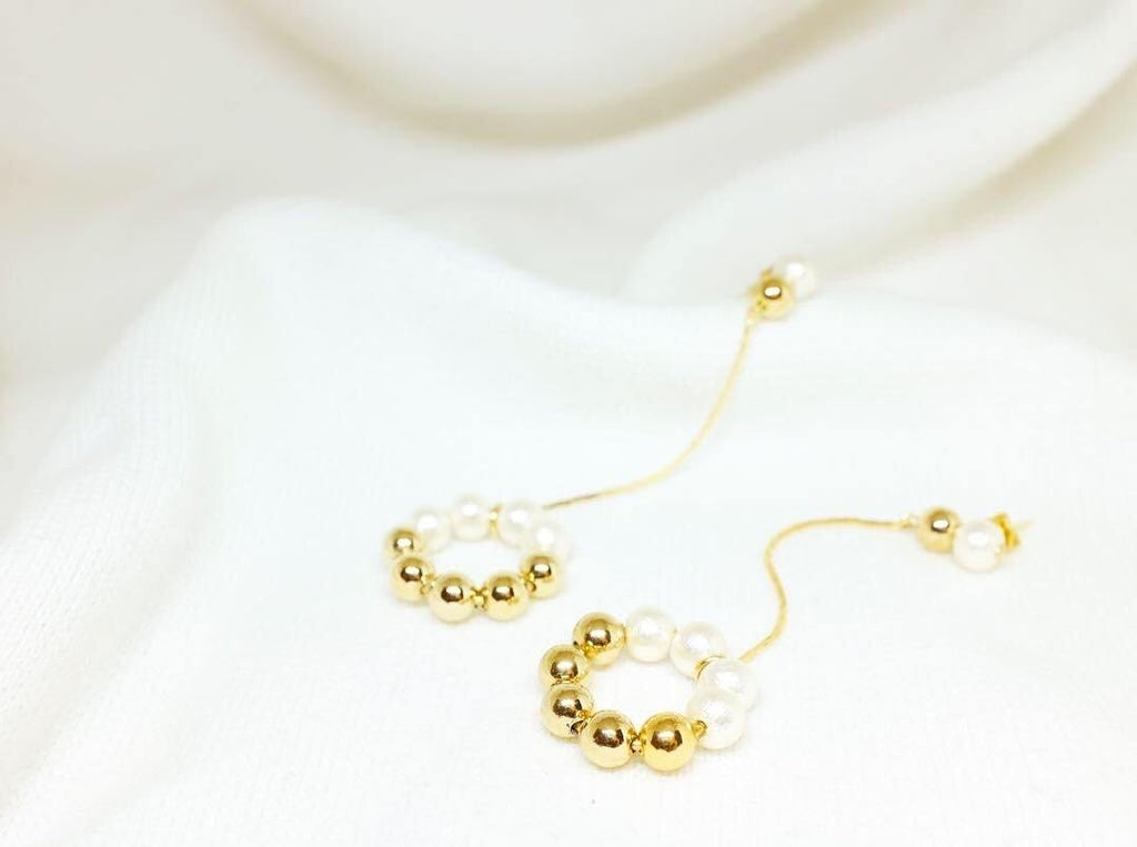 <The Pearl> Doughnut collection Swing Swing Doughnut earrings