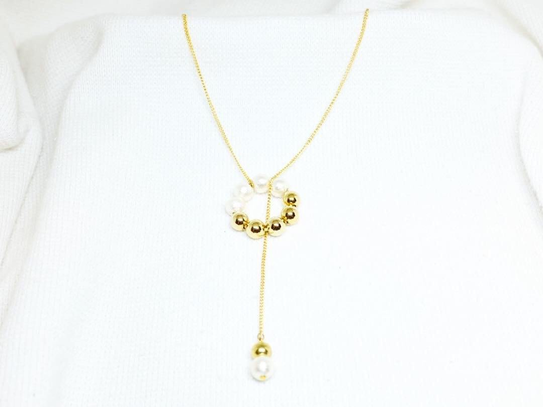 <The Pearl> Doughnut collection necklace