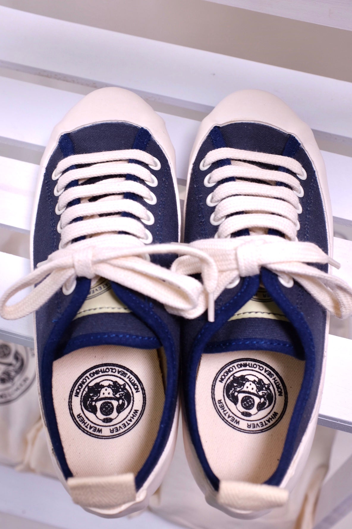 Marine Type 2 Deck Shoes (Navy/ Ecru)