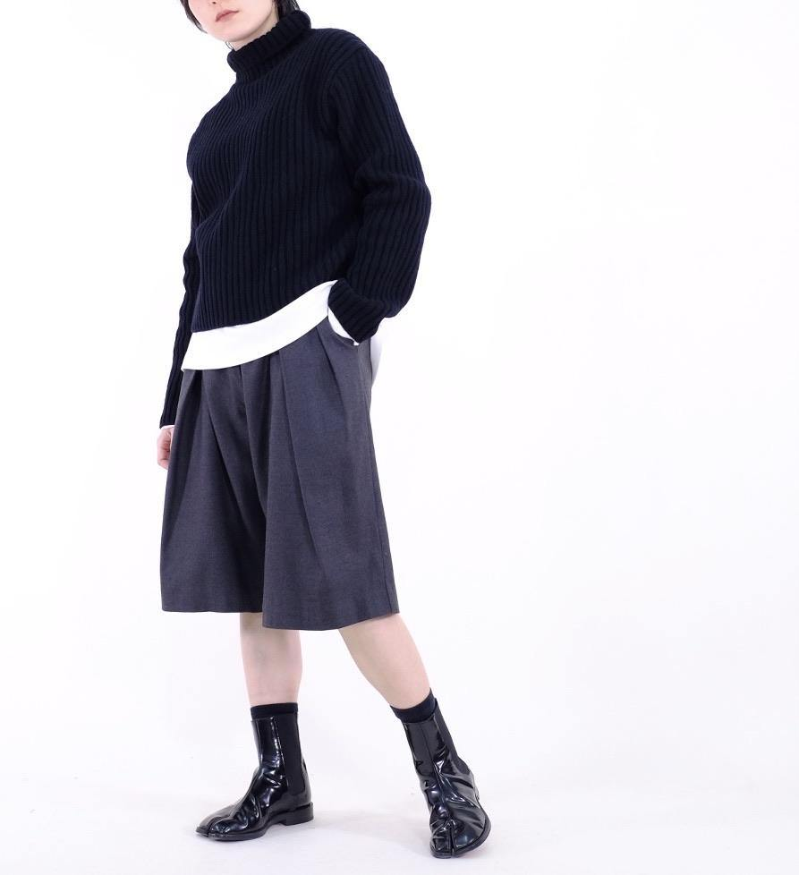 Wool-blend pleated capri - MMW Concept