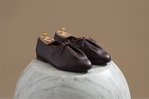 JACQUES SOLOVIERE Matt Shoes- Oxblood